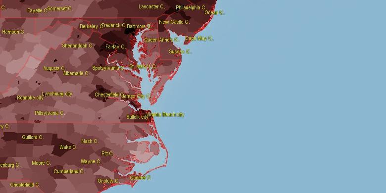 Population Density Changes Legends Position